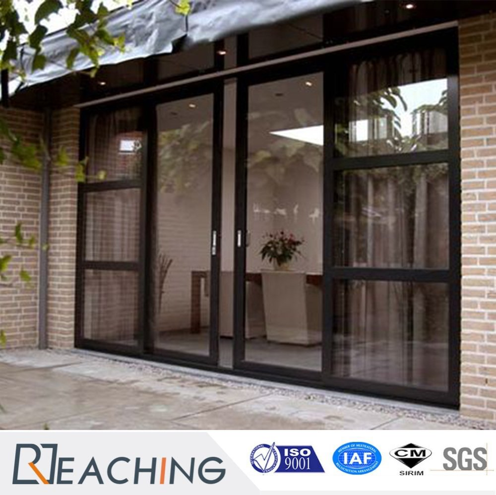 Free Design Aluminum Alloy Two Leaf Sliding Door Two Side Fixed