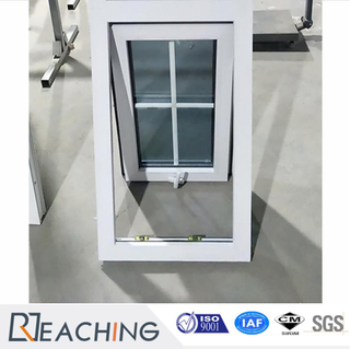 White Color UPVC/PVC Profile Tempered Glass Awning Window