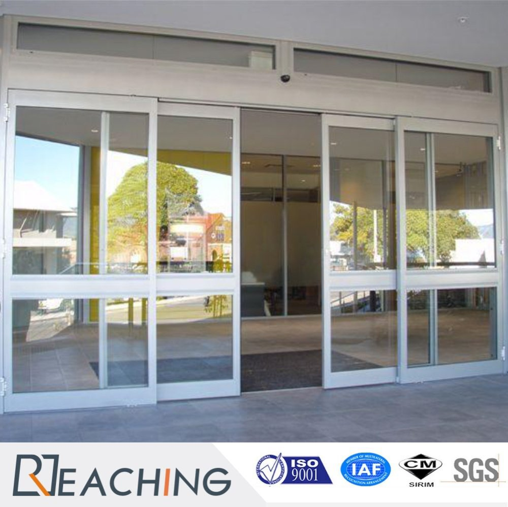 Horizontal Sliding UPVC Door with Line Decorative Grid Anti - Noise