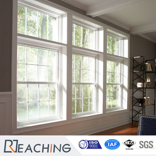 American Style White UPVC Hung Windows with Grills